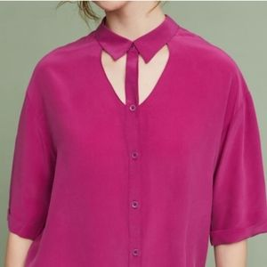 Anthropologie Maeve Mairead Silk Blouse